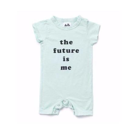 KIDS Kira Kids Future Graphic Shorts Romper - MINT