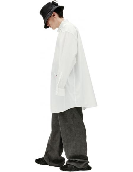Maison Margiela Oversize Embroidered Shirt - WHITE