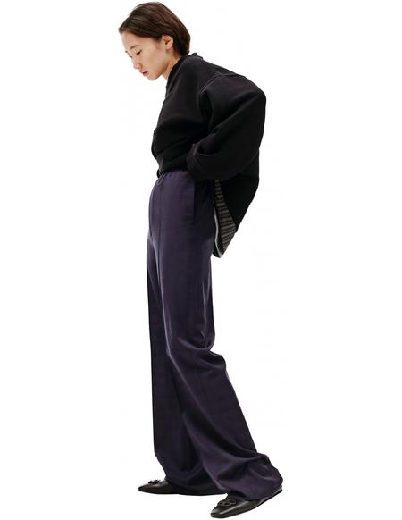 Balenciaga Checked Trousers - Navy blue