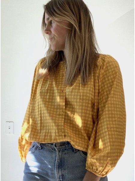 Tucker Classic Lemon Gingham Blouse - Yellow