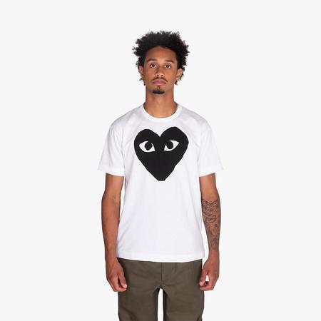 Comme des Garçons Play Black Heart T-shirt - White