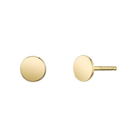 Carrie Hoffman Baby Disc Studs Earrings - Gold