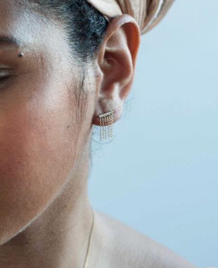 Jack + G Pave Diamond Fringe Earring - 14K yellow gold