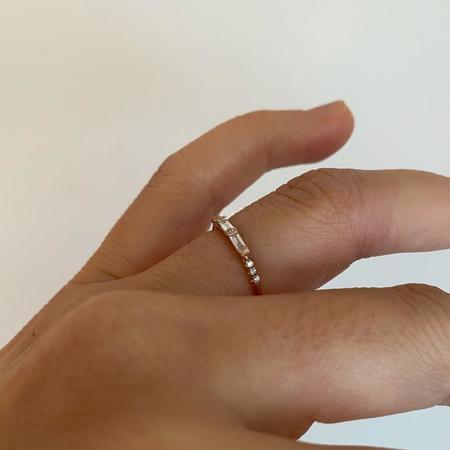 Jennie Kwon Designs 3 Baguette Diamond Equilibrium Ring - 14K yellow