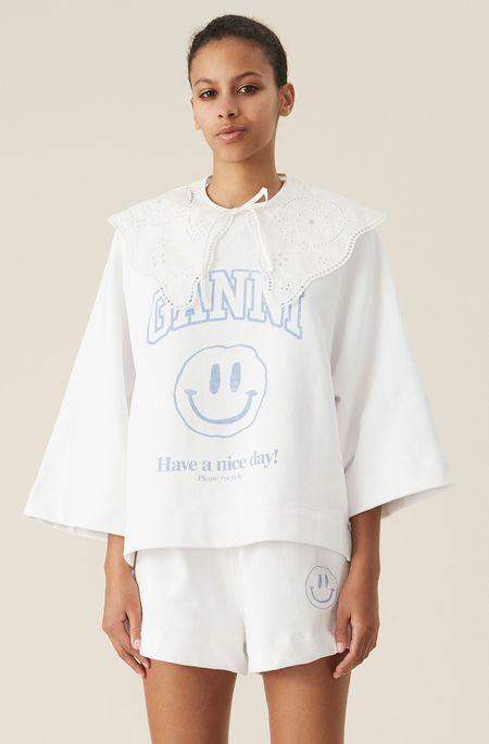 Ganni Have A Nice Day Pullover Sweatshirt