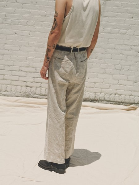 Our Legacy Coated Linen Borrowed Chino - White
