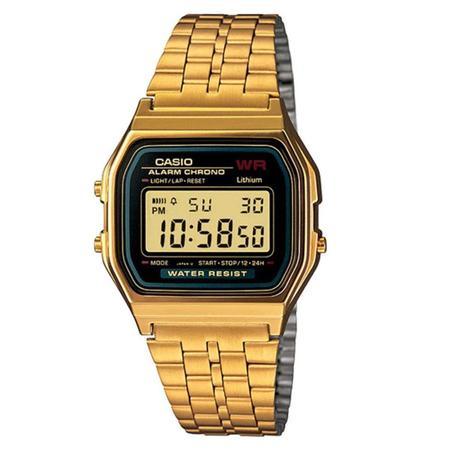 G-Shock Vintage Collection Digital Five-Link Bracelet Watch - Black/Gold