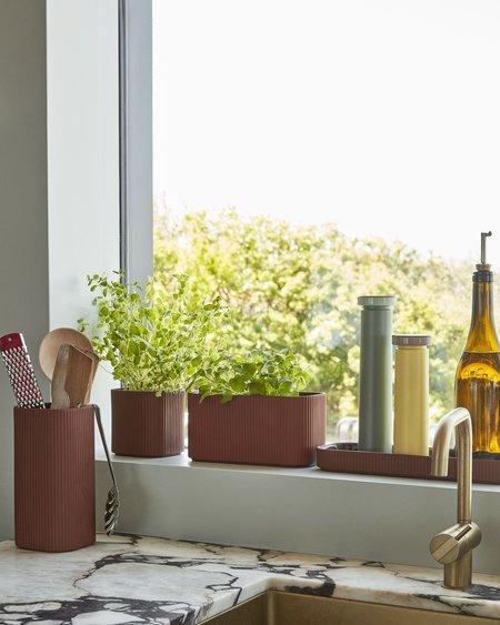 Hay Maceta Facade Herb HayM vase - Dark Terracota