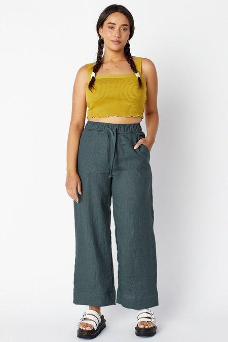 back beat rags Maya Linen Pants - Cement
