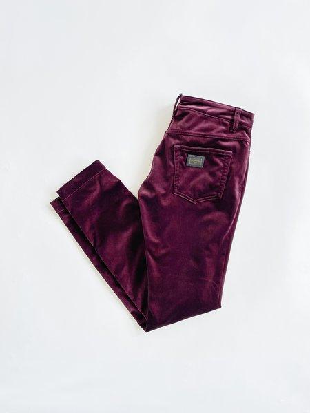 [Pre-Loved] Dolce & Gabbana Plum Velvet Pants - Purple