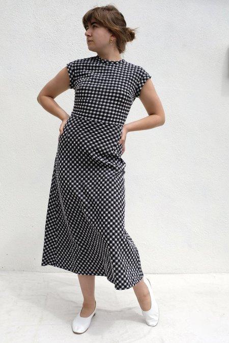 Rachel Comey Adri Seersucker Dress - Black Gingham