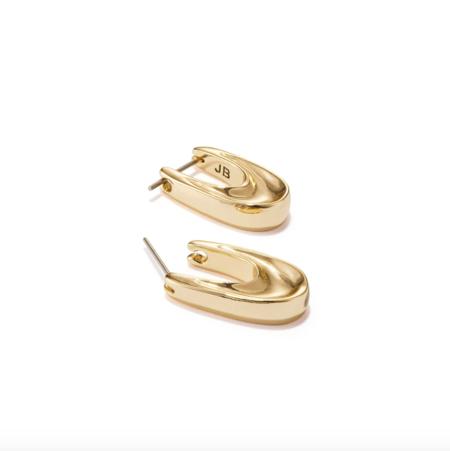 Jenny Bird Groove Hoops - Gold