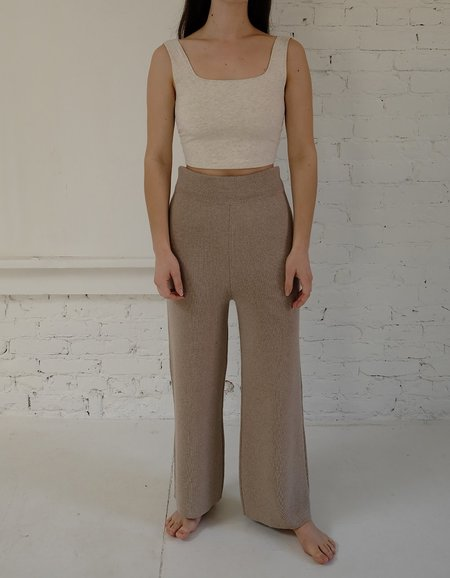 Bare Knitwear Coastal Pants - Fawn