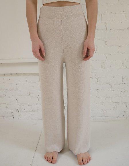 Bare Knitwear Coastal Pants - Natural