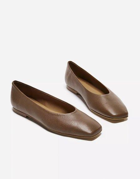 Flattered Nikki Leather Slip On - Brown