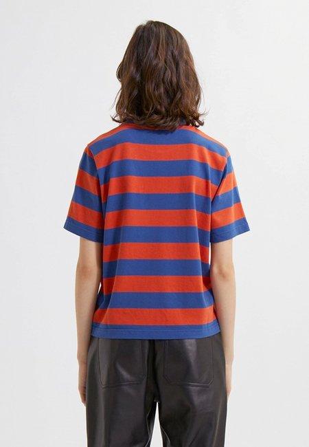 Wood Wood Alma Stripe T-Shirt - Azure Blue