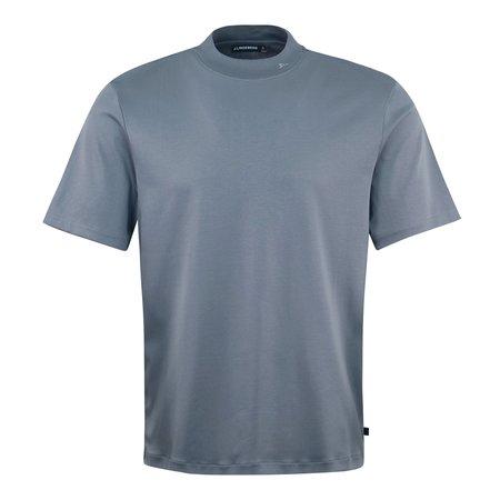 J Lindeberg Ace Mock Neck T-Shirt - Blue