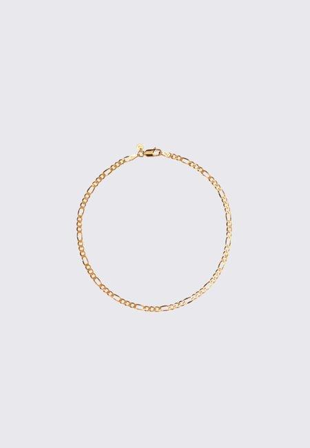 Meadowlark 17cm  Figaro Fine Chain Bracelet - Gold