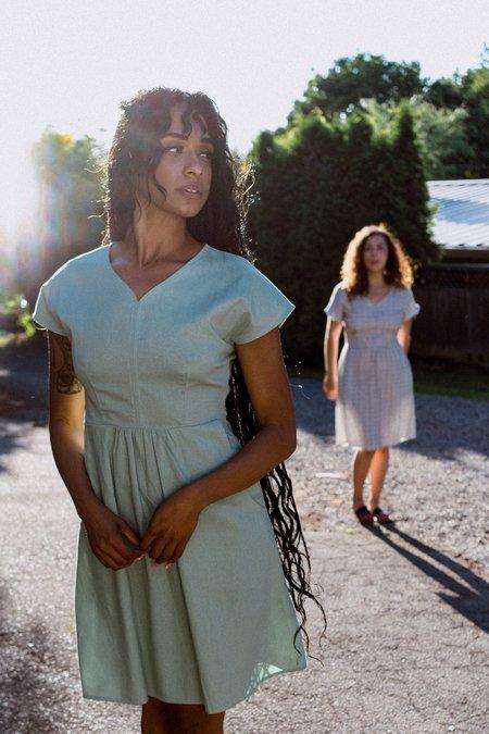 Field Day Dolman Dress - Sage Linen