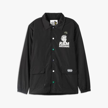 Realbadman RBM Records Coaches Jacket - Black