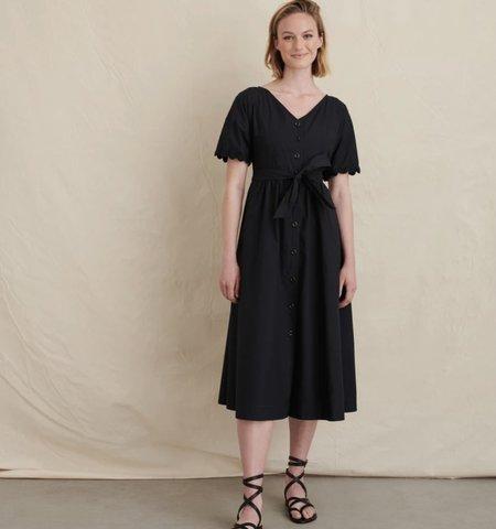 Alex Mill Rick Paper Cotton Dress - Black