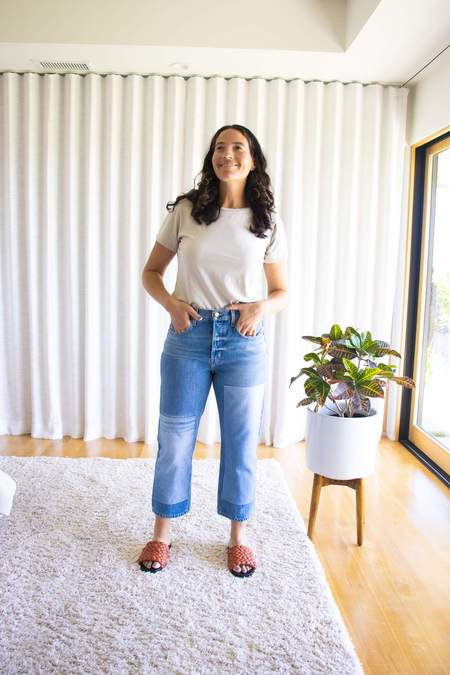 B Sides Marcel Relaxed Straight Crop - Patchwork Tate Vintage