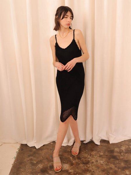 Vintage Crochet Dress - Black