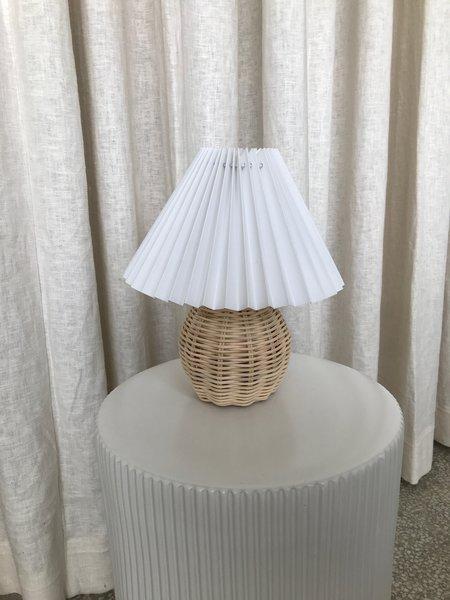 Ri-Ri-Ku WOVEN WICKER FAN LAMP - white