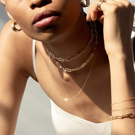 """OUTOFOFFICE  Franky 18"""" Chain Jr necklace - 14K gold filled"""