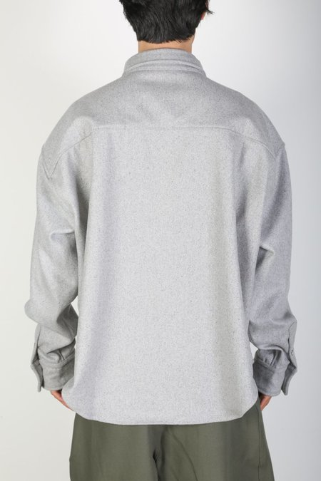 Darryl Brown DB FLANNEL shirt - Grey Wool
