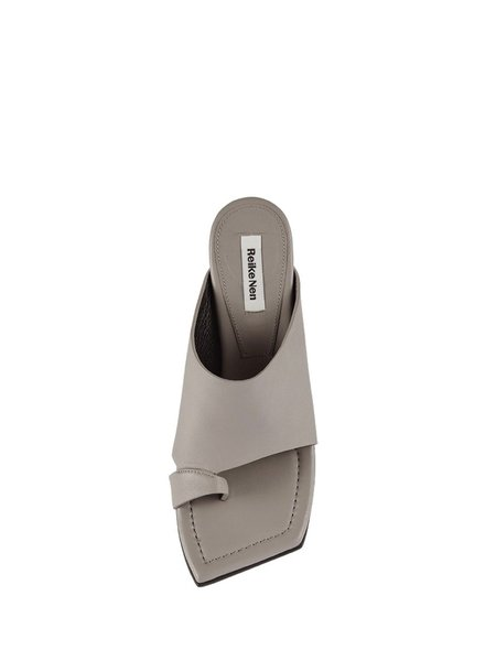 Reike Nen Layered Face Sandals - Gray