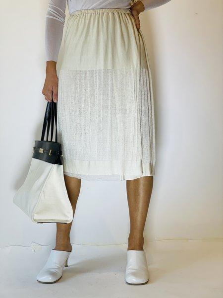 pre-loved Raquel Allegra Layered Shredded Skirt - cream