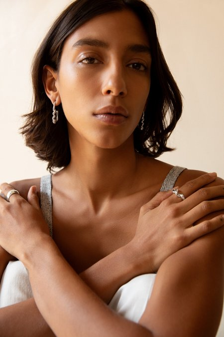 Leigh Miller Small Corkscrew Earrings - Sterling Silver