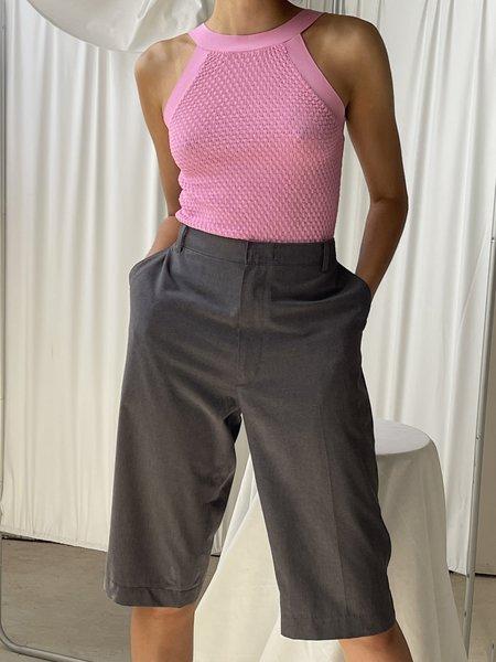 Vintage Caché Textured Knit Tank - Pink
