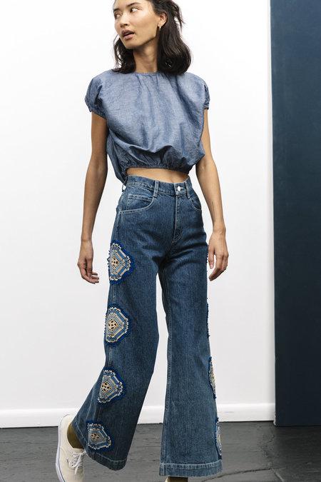 Carleen Nelly Jeans - Blue Crochet