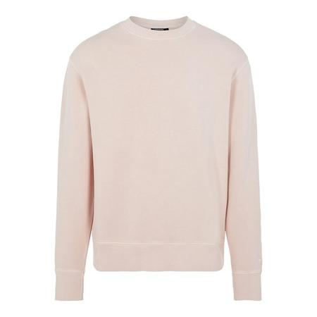 J Lindeberg Hurl Garment Dyed Crewneck Sweat - Baby Pink