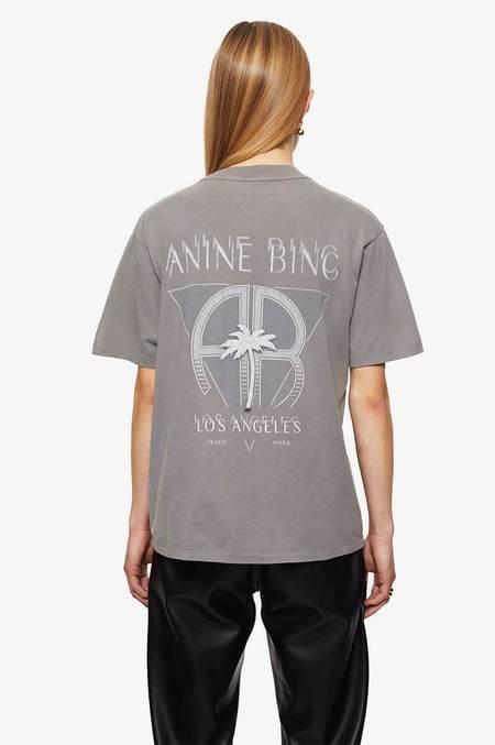 Anine Bing Ida Tee Palm - Washed Grey