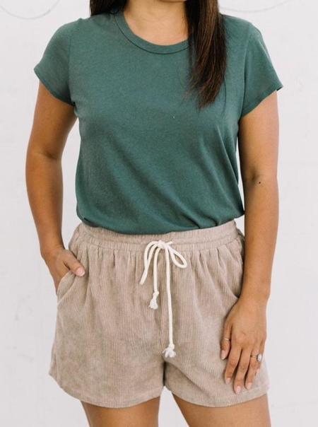 Corduroy Cinched Pocket Shorts - Mocha
