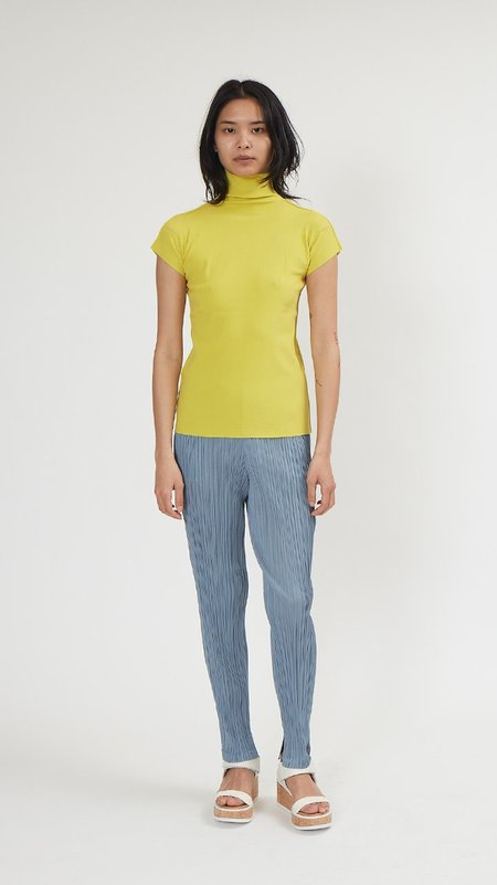 Issey Miyake Cotton Baguette Top - Yellow
