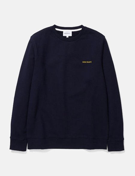 Norse Projects Vagn Norse Projects Logo Sweatshirt - Navy Blue