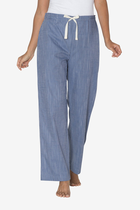 The Sleep Shirt Lounge Pant Navy on Navy Stripe
