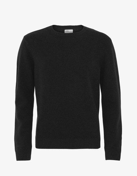 unisex Colorful Standard Merino Wool Crew Sweater - Deep Black