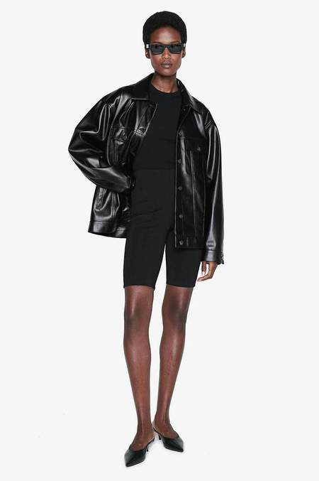 Anine Bing Rory Vegan Leather Jacket - Black