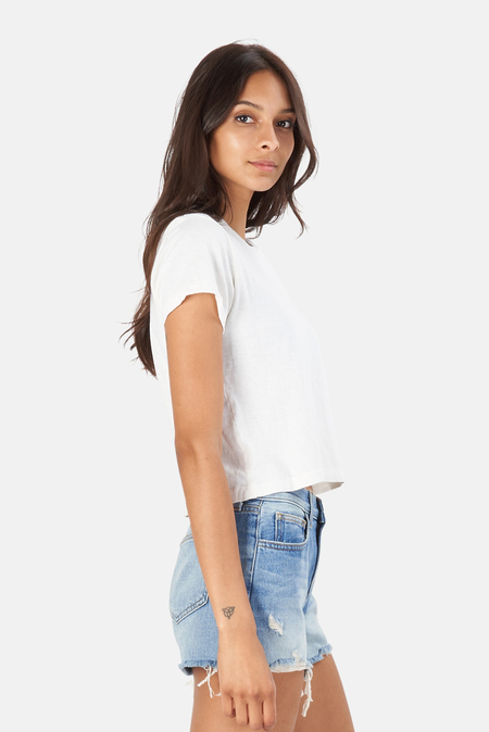 RE/DONE Hanes 1950s Boxy T-Shirt - Vintage White