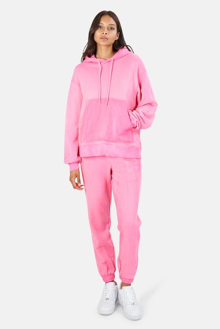 Cotton Citizen Brooklyn Oversized Hoodie Sweater - Hot Pink Mix