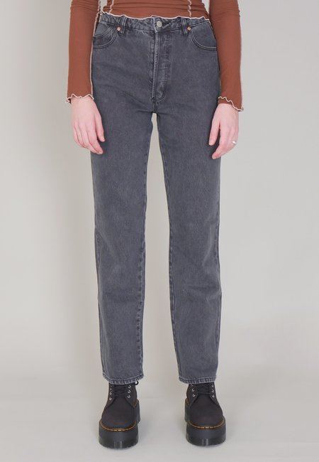 Rollas Classic Straight Jeans - Vintage Black