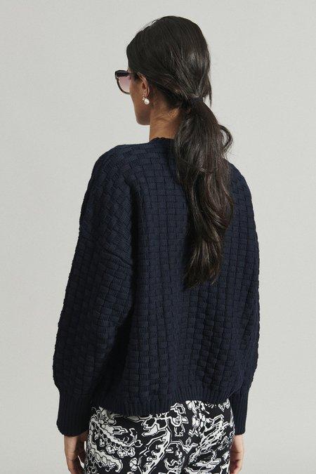 Rachel Comey Riu Pullover - Navy Basketweave