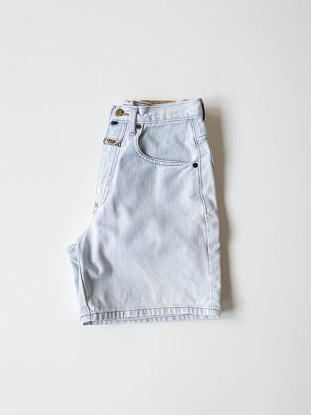Vintage High Rise Denim Shorts - Light Wash