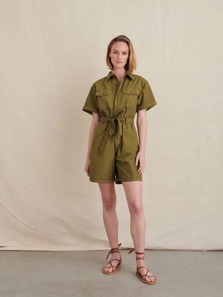 Alex Mill Safari Short Jumpsuit - Golden Olive
