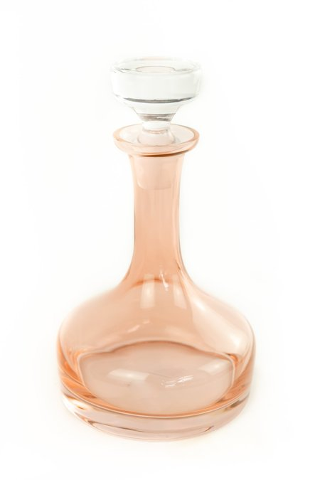 Estelle Colored Glass Vogue Decanter - Blush Pink